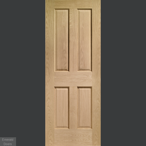 Victorian 4 Panel with non Raised Mouldings In Situ Image 1