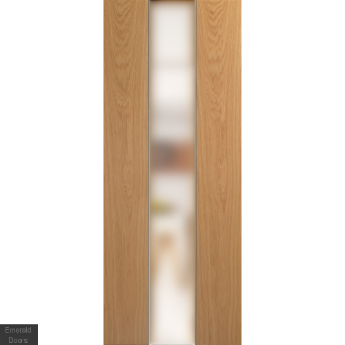 Pescara White Oak with Obscure Glass