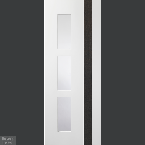 Praiano White/Grey Door with Clear Glass
