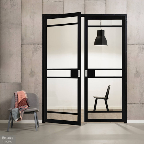 Industrial Style WK2136 Custom Made French Doors