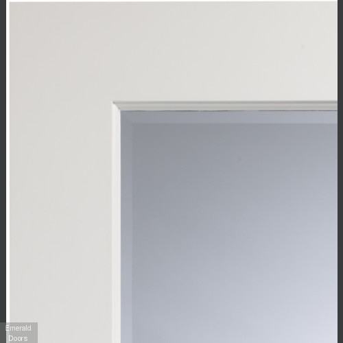 Severo White Door with Clear Bevelled Glass