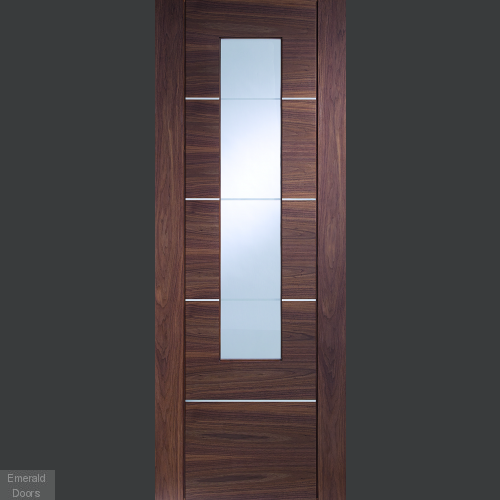 Portici with Clear Etched Glass In Roomset