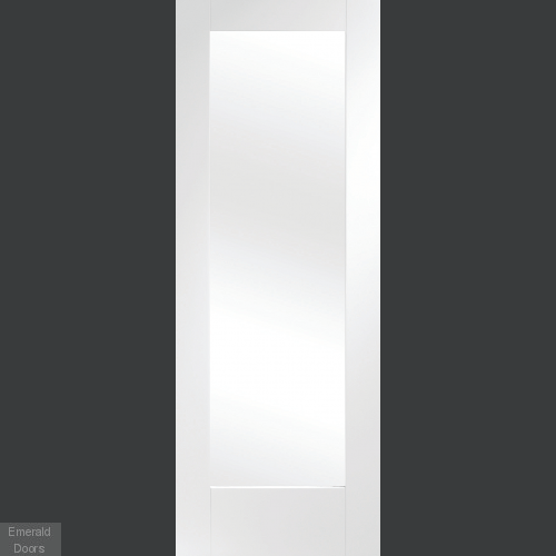 White Salerno Clear Glazed  Room Divider with Side Panel